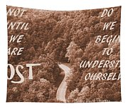 Get Lost Quote Tapestry