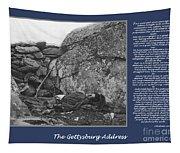 Gettysburg Address Civil War Devils Den Tapestry