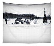 Gettysburg Farm In Winter Tapestry