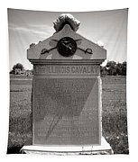 Gettysburg National Park 8th Illinois Cavalry Monument Tapestry