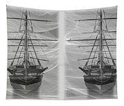 Ghost Ship - Gently Cross Your Eyes And Focus On The Middle Image Tapestry