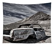 Ghost Town Junked Car Tapestry