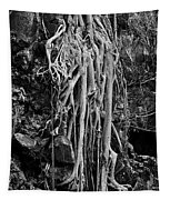 Ghostly Roots - Bw Tapestry