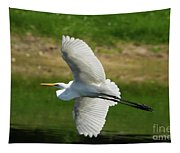 Giant Egret Grace Tapestry