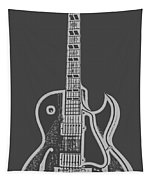 Gibson Es-175 Electric Guitar Tee Tapestry by Edward Fielding