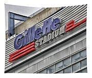 Gillette Stadium Sign Tapestry