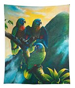 Gimie Dawn 1 - St. Lucia Parrots Tapestry