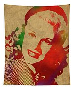 Ginger Rogers Watercolor Portrait Tapestry