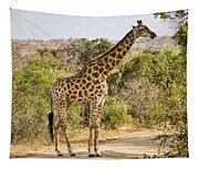 Giraffe Grazing Tapestry