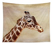 Giraffe Portrait With Texture Tapestry