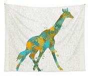 Giraffe Watercolor Art Tapestry