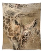 Giraffes, Big And Small Tapestry