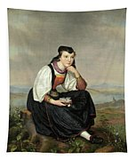 Girl From Hessen In Traditional Dress Tapestry
