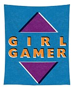 Girl Gamer Tapestry
