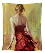 Girl In A Copper Dress I Tapestry