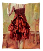 Girl In A Copper Dress IIi Tapestry