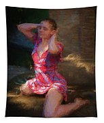 Girl In The Pool 10 Tapestry
