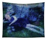 Girl In The Pool 12 Tapestry