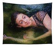 Girl In The Pool 15 Tapestry