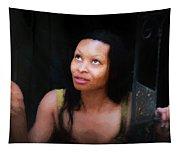 Girl In The Pool 17 Tapestry