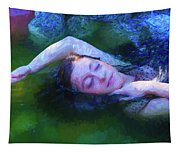 Girl In The Pool 20 Tapestry