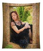 Girl In The Pool 21 Tapestry