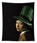 Girl With A Shamrock Earring Tapestry