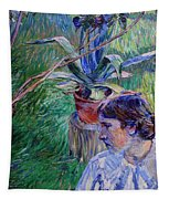 Girl With Agave Tapestry