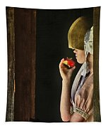 Girl With Apple Tapestry