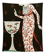 Girl With Fish Bowl Tapestry