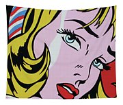 Girl With Ribbon Tapestry
