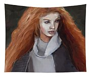 Girl With The Red Hair Tapestry