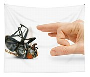 Give Pests The Flick Tapestry