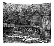 Glade Creek Grist Mill 2 Bw Tapestry