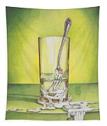 Glass With Melting Fork Tapestry