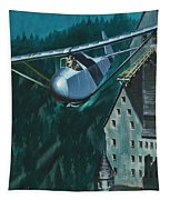 Glider Escape From Colditz Castle Tapestry
