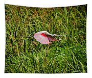 Gliding Spoonbill In Bayou Tapestry