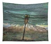 Glistening On Wood Tapestry