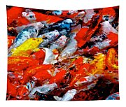 Glittering Of Koi Tapestry