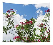 Glorious Fragrant Oleanders Reaching For The Sky Tapestry