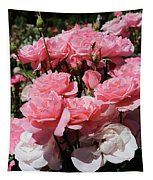 Glorious Pink Roses Tapestry