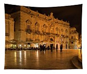 Glossy Outdoor Living Room - Syracuse Sicily Italy Tapestry