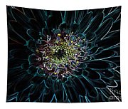 Glow Edge Flower Tapestry