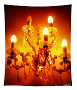 Glowing Chandelier Tapestry