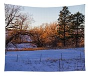 Glowing Cottonwoods Tapestry