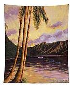 Glowing Kualoa Diptych 1 Of 2 Tapestry