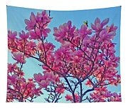Glowing Magnolia Tapestry