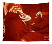 Glowing Sandstone Ledges Tapestry