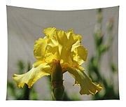 Glowing Yellow Iris Tapestry
