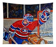 Goalie Makes The Save Stanley Cup Playoffs Tapestry